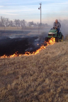 Wtf cant explain fire lawn mower